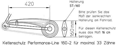 1-fl/ügelig inklusive Zubeh/ör Kunststoff /Ø 22cm bis 48 Z/ähne HESLING Kettensch/ützer Cambio SB-verpackt transparent mit schwarzer Deckleiste
