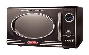 Nostalgia RMO400BLK Retro Series 0.9-Cubic Foot 800-Watt Microwave