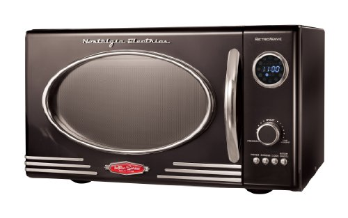 Nostalgia RMO400BLK Retro Series 0.9-Cubic Foot 800-Watt Microwave (Retro Red Microwave compare prices)