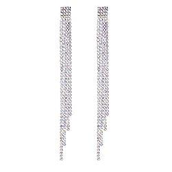 Austrian Crystal Rhinestone Dangling Silver Plated Earrings