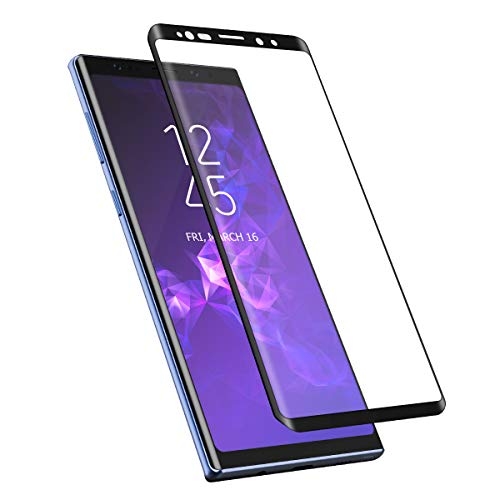 Galaxy Note 9 Screen Protector Tempered Glass, Foxnovo Full Coverage Screen Protector 3D Curved/HD Clarity/Case Friendly Screen Protector Samsung Galaxy Note 9 (Note 9)