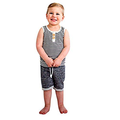 1ee59e79ab Winsummer Toddler Baby Boys Summer Shorts Outfits Sleeveless Beaches Tank  Tops Harem Pants Hawaiian Clothes Set