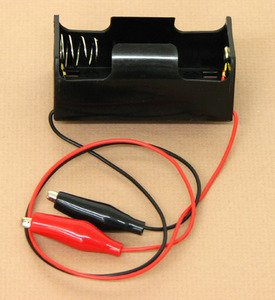 SEOH Battery Holder D With Alligator Clips on 12in Leads
