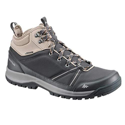 QUECHUA - Zapatillas de Senderismo de Caucho para Hombre, Color Gris, Talla 39 EU: Amazon.es: Zapatos y complementos