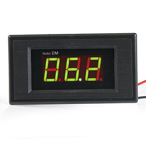 GEREE Green LED DC 0V-100V Digital Voltmeter Volt Panel Meter DC 24v (Led Digital Volt Panel Meter)