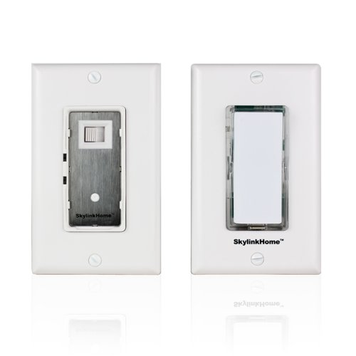 SK-7 Wireless DIY Easy to intall 3-Way Dimmable On Off Anywhere Lighting Home Control Dimmer Wall Switch Set, no neutral wire required. (Garage Door Opener Goes Up But Not Down)