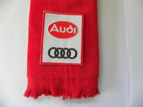 - Audi Golf Towel Vintage Red Vintage Applique Automobile Car