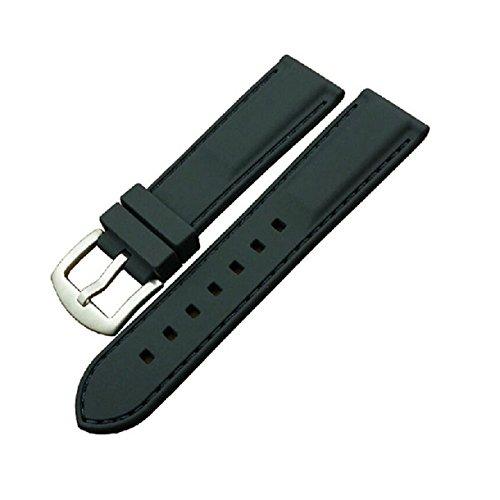 Sannysis(TM) 1PC Waterproof Silicone Rubber Mens Strap Sport Diver Watch Band (Black 22mm)