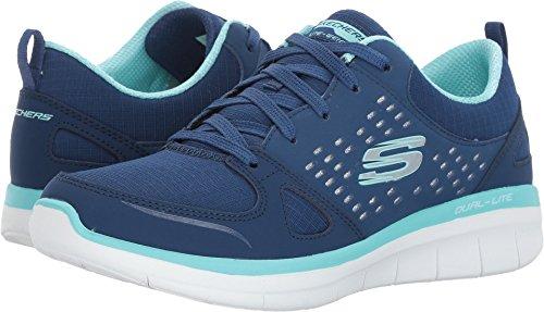 Skechers Women's Synergy 2.0 - Rising Star Navy Light Blue 8.5 B US