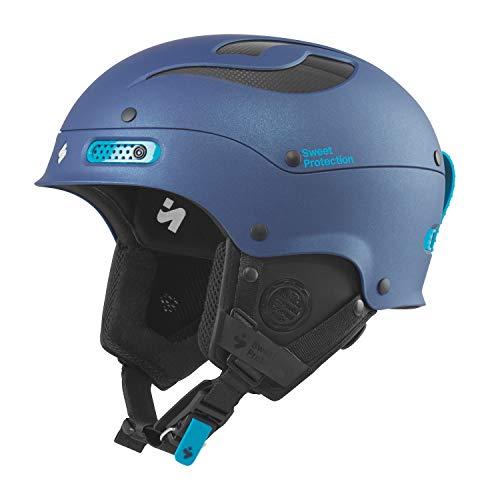 Sled Slalom (Sweet Protection Women's Trooper II Ski and Snowboard Helmet, Satin Midnight Blue Metallic, Small/Medium)