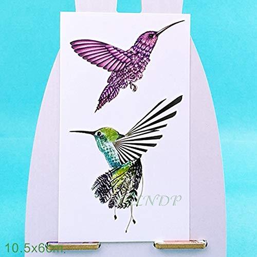 ljmljm Bule 6pcs Tatuaje Impermeable Etiqueta colibrí Kingfisher ...