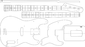 Amazon.com: Electric Guitar Layout Template - \'51 P BASS: Home ...