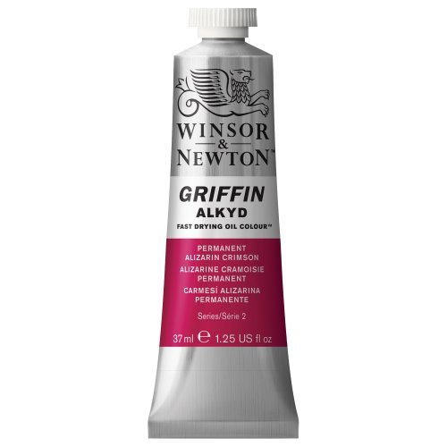 Winsor & Newton Griffin Alkyd Fast Drying Oil Color Tube, 37ml, Permanent Alizarin Crimson by Winsor & Newton