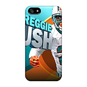 Perfect Hard Phone Cases For Iphone 5/5s (DVH16572yyui) Custom Beautiful Miami Dolphins Pattern