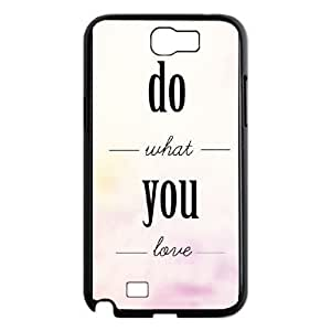 SamSung Galaxy Note2 7100 cell phone cases Black love what you do fashion phone cases YEH0719993