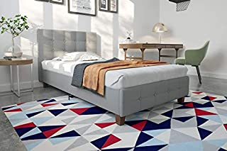 DHP Rose Linen Upholstered Platform Bed, Gray, Twin (B00TPI7XKS) | Amazon price tracker / tracking, Amazon price history charts, Amazon price watches, Amazon price drop alerts
