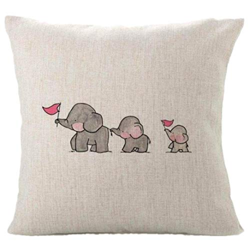Solid Gold Animal Skin Cream - Auwer Cute Animal Cushion Cotton Linen Pillow Throw Case Cover Pillowcase Cushion Cover Sofa Throw Pillow Case 18