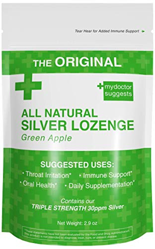Original All Natural Silver Lozenges - Green Apple, 2.8 Oz