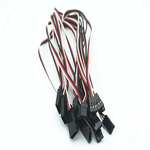 10pcs Servo Extension Leads Wire Cable Female to Male RC Wires Cables 300mm 30cm 3-pin (Extension Servo Cable)