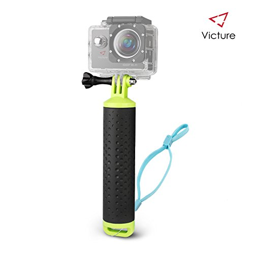 Victure Floating Hand Grip Waterproof Handle Water Sport Pole Diving Stick Monopod for APEMAN/Victure / AKASO/DBPOWER / Campark/Crosstour