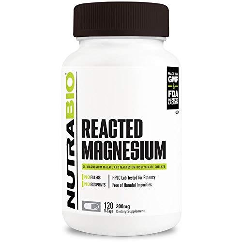 NutraBio Reacted Magnesium 120 Capsules