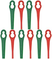 VILLCASE Lâminas de Corte de Plástico 80 Peças de Substituição de Lâminas de Cortador de Grama para Aparador d