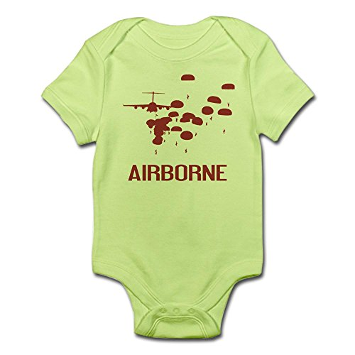 CafePress U.S. Army: Airborne Jump (Airborne Red) Body Suit - Cute Infant Bodysuit Baby (1 Combat Jump Wings)