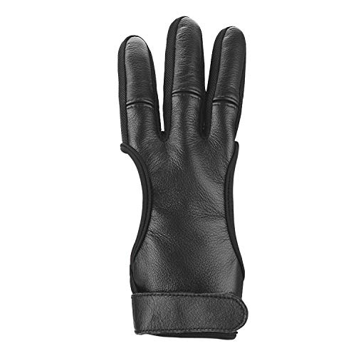 Eamber Archery Shooting Gloves Three Finger Protective Archery Gloves for Recurve Bows Hunting Finger (M 8cm) (L 9cm)