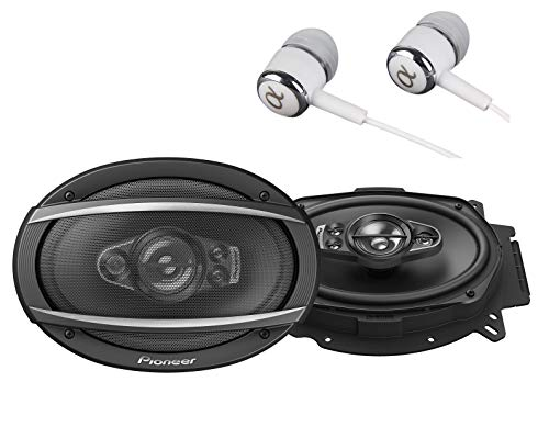 "Pioneer TS-A6970F A Series 6"" X 9"" 600 Watts Max 5-Way Car Speakers Pair with Carbon and Mica Reinforced Injection Molded Polypropylene (IMPP) Cone Construction w/Free ALPHASONIK Earbuds"