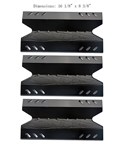 PP6431 (3-pack) Porcelain Steel Heat Plate Replacement for Select Gas Grill Models by Kenmore, Sams Club, Outdoor Gourmet, BBQ Pro and Others