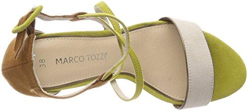 Marco Tozzi 28317, Sandalia con Pulsera Para Mujer Verde (Lime Comb)