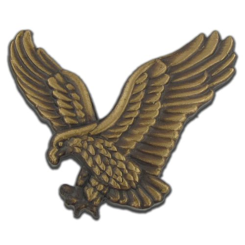 PinMart Soaring American Bronze Eagle Jewelry Lapel Pin