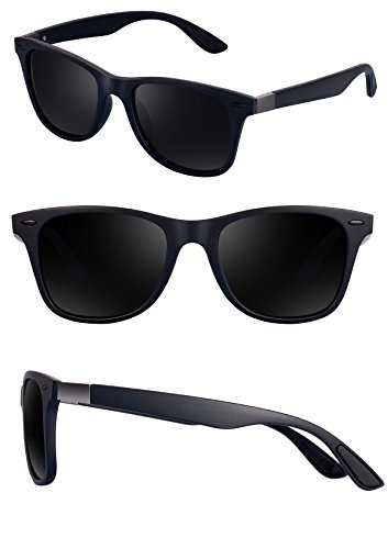 Polarized Wayfarer Sunglasses for Men - FEIDU HD Vision Polarized Sunglasses Mens FD2150 (black/black-2150, 2.08) by FEIDU (Image #1)