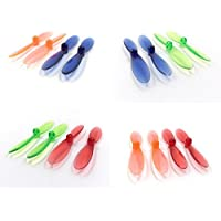 Heli-Max 1SQ V-CAM [QTY: 1] Transparent Clear Blue and Green Propeller Blades Props Rotor Set 55mm Factory Units [QTY: 1] Red [QTY: 1] Orange [QTY: 1]
