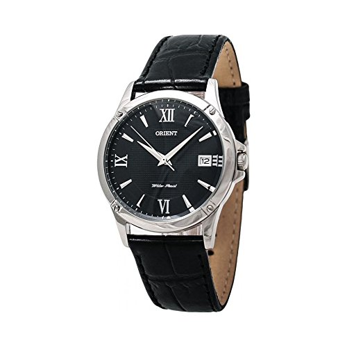 Orient FUNF5004B0 33mm Stainless Steel Case Black Calfskin Mineral Women's Watch