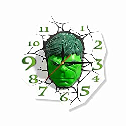The Incredible Hulk 11.8'' Original Handmade Wall Clock - Get unique décor for home or office - Best gift ideas for kids, friends, parents and your soul mates