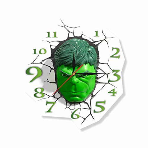 The Incredible Hulk 11.8'' Original Handmade Wall Clock - Get unique décor for home or office - Best gift ideas for kids, friends, parents and your soul mates -