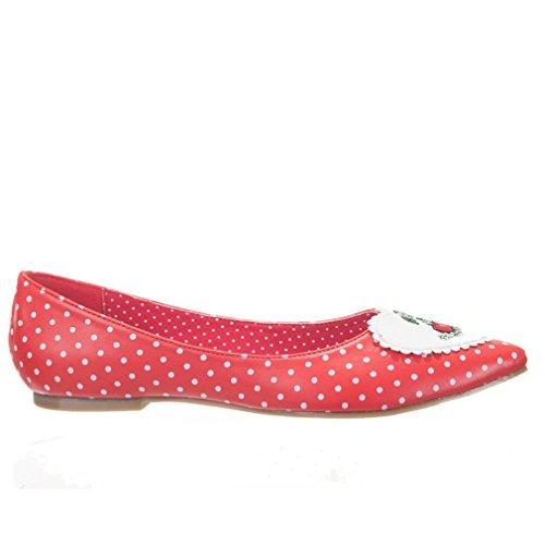 Dancing Days Mujer Rockabilly bailarinas–Everly Polka Dot cereza Rojo - rojo