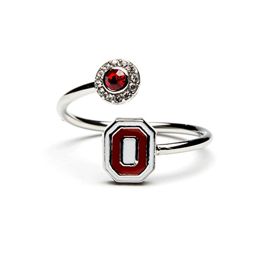 Ohio State Ring | Ohio State Block O Ring with Scarlet Crystal | OSU Gifts | Officially Licensed Ohio State Jewelry | OSU Jewelry | Stainless Steel