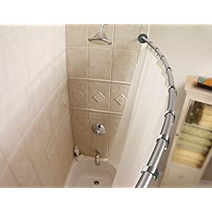 Moen CSR2145BN 5-Foot Curved Shower Rod, Brushed Nickel