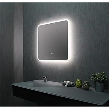 Spiegel Für Badezimmer | Pradel Spiegel Badezimmer Mit Led 60 Cm X 60 Cm Hxl Amazon De
