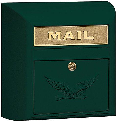 Mailbox Green Eagle Door - Salsbury Industries 4150E-GRN Eagle Door Modern Mailbox, Green