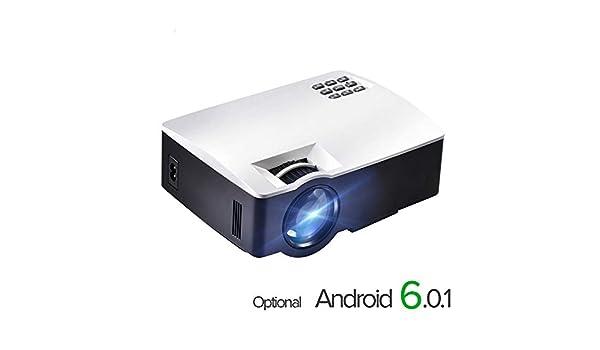para Cine en casa, 1800 lúmenes, Compatible con Mini proyector ...