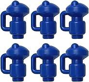 Runtodo 6Pcs Trampoline Pole Caps 1.5 Inch Diameter Enclosure Safety Caps for Trampoline Net Fiber Glass or Me