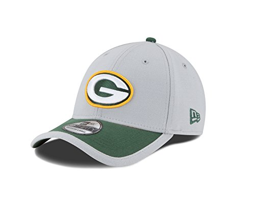 NFL Green Bay Packers 2015 39Thirty Stretch Fit Cap, Large/X-Large, Gray