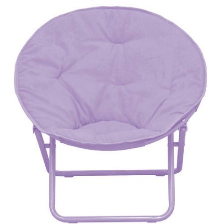 American Kids Solid Faux-Fur Saucer Chair, Polyester Fabric Content ()