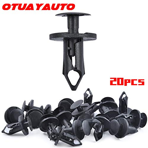 OTUAYAUTO 20PCS Fender Clip Nylon Fastener, for Jeep Wrangler Cherokee Commander Liberty, Dodge Avenger Journey Durango Caravan, Chrysler 200 300 Serbing Town & Country, Saturn, Ford Escape (Fender Flares For 2005 Jeep Grand Cherokee)