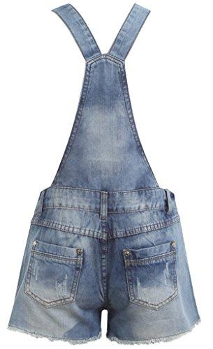 Juicy Trendz Mujeres Mezclilla Jeans dungaree Señoras Jumpsuit playsuit Niña BLUE-DUNGAREE-F7473