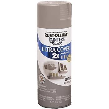 Rust-Oleum 249855 Painter's Touch Multi Purpose Spray Paint, 12-Ounce, Satin Stone Gray