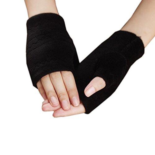 Tenworld Women Girl Winter Gift Thick Warm Gloves Soft Fingerless Mittens Hot (Down Ski Mittens)